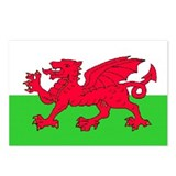 Welsh Flag Postcards (x 8)