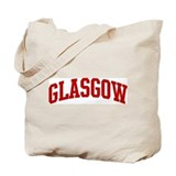 GLASGOW (red) Tote Bag