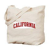 CALIFORNIA (red) Tote Bag