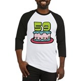 59 Year Old Birthday Cake Baseball Jersey