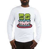 58 Year Old Birthday Cake Long Sleeve T-Shirt