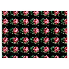 Pink Cabbage Rose Vintage Pattern Invitations