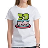 39 Year Old Birthday Cake Tee