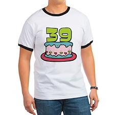 39 Year Old Birthday Cake T