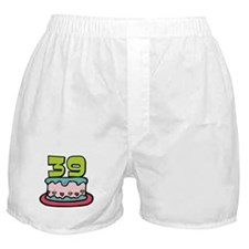 39 Year Old Birthday Cake Boxer Shorts