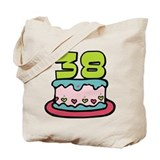 38 Year Old Birthday Cake Tote Bag