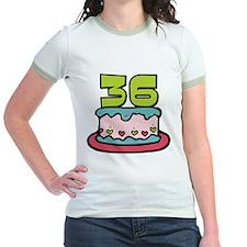 36 Year Old Birthday Cake Jr. Ringer T-Shirt