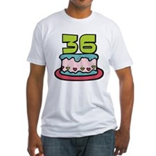 36 Year Old Birthday Cake Fitted T-Shirt