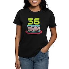 36 Year Old Birthday Cake Women's Dark T-Shirt
