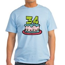 34 Year Old Birthday Cake T-Shirt