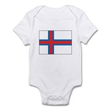 Faroe Islands Flag Heritage Infant Bodysuit