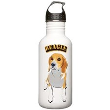 Beagle Dog with Text Water Bottle