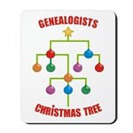 Genealogists Christmas Tree Mousepad