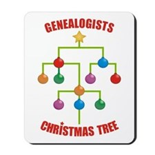 Genealogists Christmas Tree Mousepad