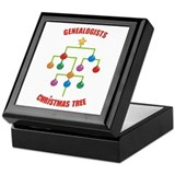 Genealogists Christmas Tree Keepsake Box
