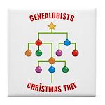 Genealogists Christmas Tree Tile Coaster