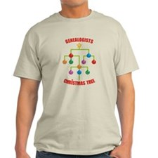 Genealogists Christmas Tree T-Shirt