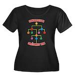 Genealogists Christmas Tree Women's Plus Size Scoo