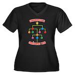 Genealogists Christmas Tree Women's Plus Size V-Ne