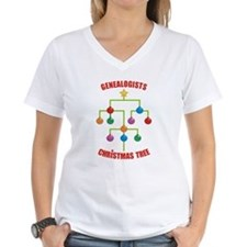 Genealogists Christmas Tree Shirt