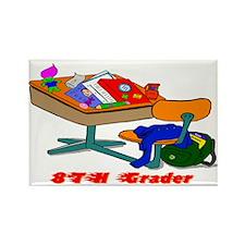 8TH Grader Desk Rectangle Magnet