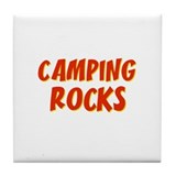 Camping Rocks Tile Coaster
