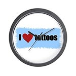 I LOVE TATTOOS Wall Clock