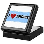 I LOVE TATTOOS Keepsake Box