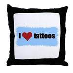I LOVE TATTOOS Throw Pillow