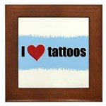 I LOVE TATTOOS Framed Tile