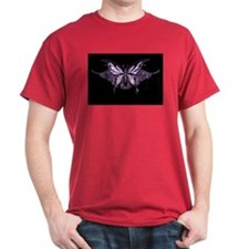 Purple Tribal Butterfly T-Shirt
