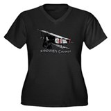 Sopwith camel Women's Plus Size V-Neck Dark T-Shir