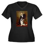 Lincoln's German Shepherd Women's Plus Size V-Neck