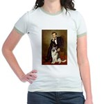 Lincoln's German Shepherd Jr. Ringer T-Shirt