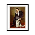 Lincoln's German Shepherd Framed Panel Print