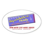 Squiddles Oval Sticker