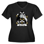 Bourchier Family Crest Women's Plus Size V-Neck Da