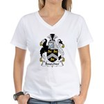 Bourchier Family Crest Women's V-Neck T-Shirt