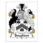 Boughton Family Crest Small Poster