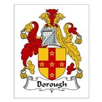 Borough Family Crest Small Poster