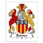 Bonner Family Crest Small Poster