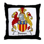 Bonner Family Crest Throw Pillow