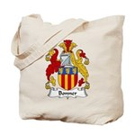 Bonner Family Crest Tote Bag
