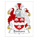 Bonham Family Crest Small Poster