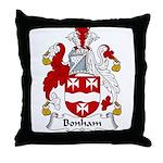 Bonham Family Crest Throw Pillow