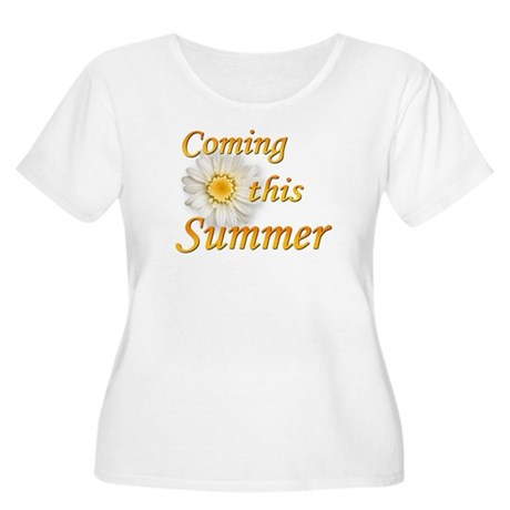 Coming this Summer Women's Plus Size Scoop Neck T-