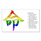 Kanji: Destiny Rainbow Rectangle Decal