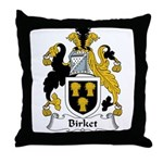 Birket Family Crest Throw Pillow
