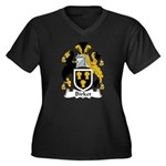 Birket Family Crest Women's Plus Size V-Neck Dark