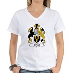 Birket Family Crest Women's V-Neck T-Shirt